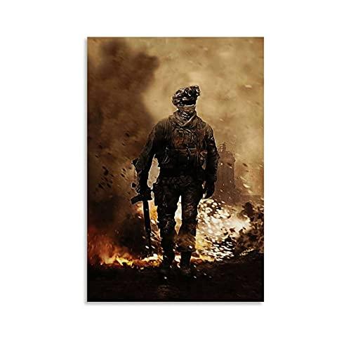 HAPPOW Póster de juego y soldado de Call Of Duty The Flames of War Are Flying (1) Cuadro decorativo moderno para dormitorio familiar de 30 x 45 cm)