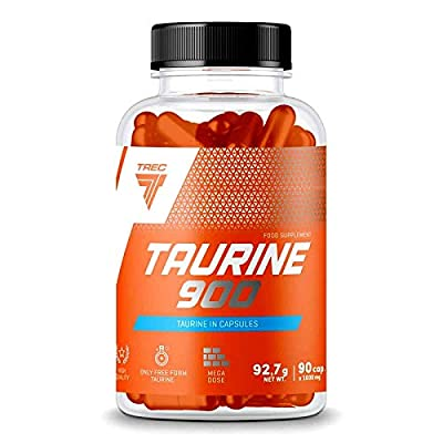 TREC Taurine 900   Anabolic and Anticatabolic   Muscle Growth and Recovery   Food Supplement (90 Capsules - 1 Bottle)