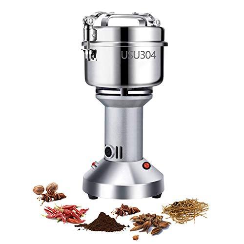 JLKDF Molinillo de Grano eléctrico de 200G 950W 28000RPS Máquina de Polvo de Alta Velocidad de Acero Inoxidable Pulverizador pequeño para Cocina Hierbas Especias Pimienta Café