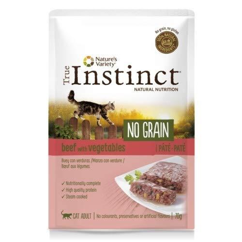 True Instinct - Comida húmeda para Gatos Adultos no Grain paté Buey con Verduras 70 gr ✅