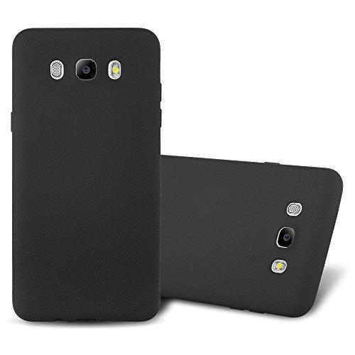 Cadorabo Funda para Samsung Galaxy J7 2016 en Frost Negro - Cubierta Proteccíon de Silicona TPU Delgada e Flexible con Antichoque - Gel Case Cover Carcasa Ligera