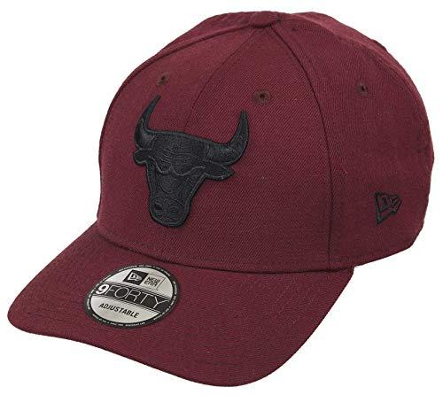 New Era Chicago Bulls 9forty Adjustable Snapback Cap NBA Essential Maroon - One-Size