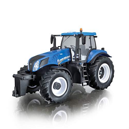 RC Auto kaufen Traktor Bild: Maisto Tech R/C New Holland Traktor T8.320: Ferngesteuerter Traktor mit Licht, Maßstab 1:16, mit Stick-Controller, ab 8 Jahren, 35 cm, blau (582026)*