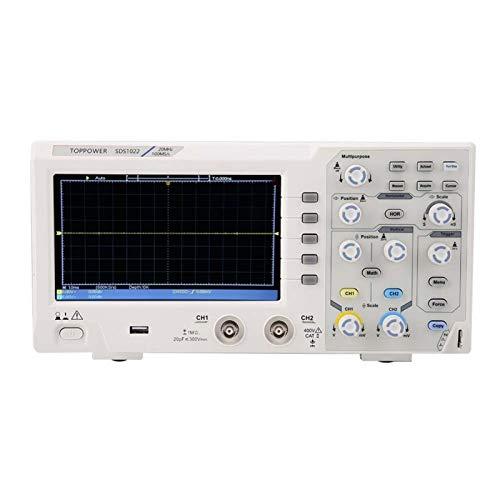 Osciloscopio digital de 2 canales, osciloscopio para la industria (regulación europea).