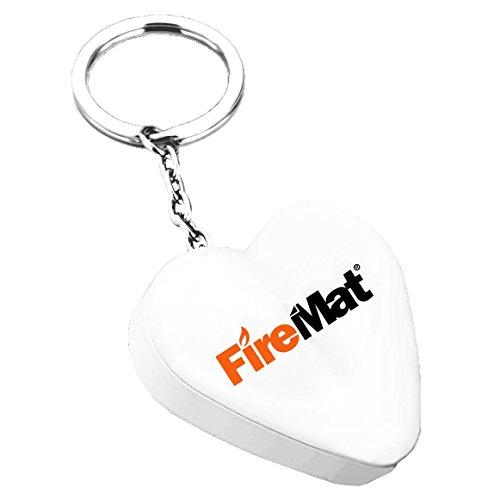 FireMat FireMat® USB Elektronisches Winddichte Feuerzeug Portable Taschenlampe Zigarettenanzünder (Herz Weiß) Weiß