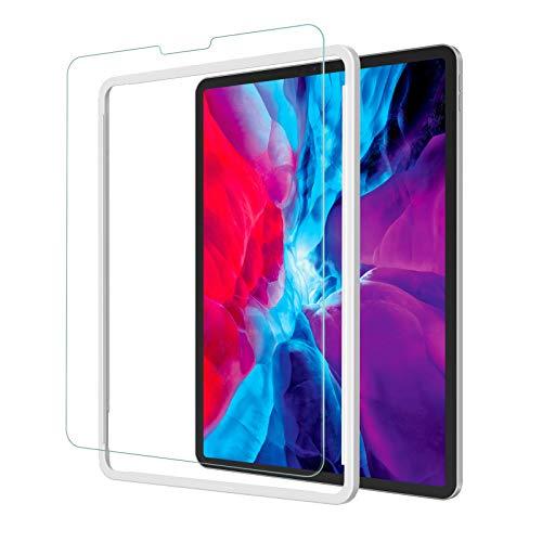 NIMASO フィルム iPad Pro 12.9 用 強化 ガラス 保護 ガラスフイルム (2021 第5世代   2020 第4世代   2018 第3世代) 対応 ガイド枠付き