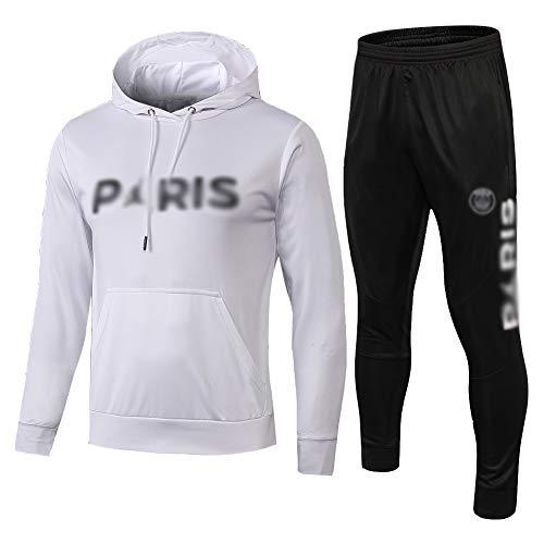 HL-TD Durable Juego de los Hombres de Entrenamiento de fútbol, con Capucha for niños Ropa de Deporte SetFootball Uniforme (Tops + Pants) - ZS5121 Casual (Size : L)