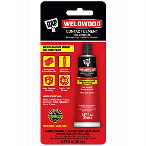00129 Weldwood Contact Cement, Squeeze Tube, 20-ml. - Quantity 1