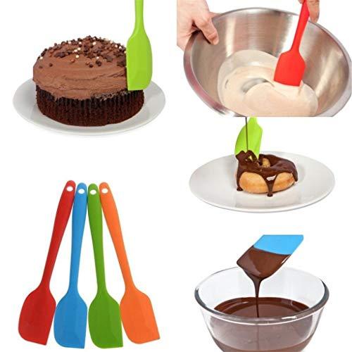 SolwDa Heat Resistant Flexible Silicone Spatulas Cake Spatula Scraping