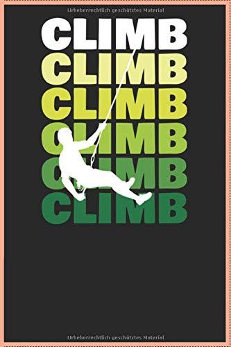 Climber Club Notizbuch Kariertes Papier mit 120 Seiten Din A5 Outdoor-Notizbuch I Skizzenbuch I Tagebuch: Climber Club Notizbuch