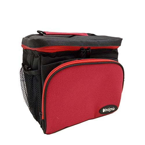 1yess Picknick-Korb Tote Large Lunch Bag 30L Insulated kühlen Picknick-Beutel Weiche Lunchbox Soft-Seitig Kühltasche for Strand/Picknick/Camping/Grill, for Reise/Picknick/Sport/Flug (Farbe: rot)