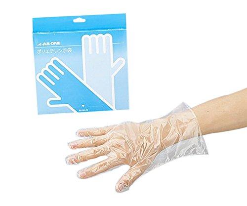 アズワン ポリエチレン手袋 スタンダード 標準厚 L/2-4973-01