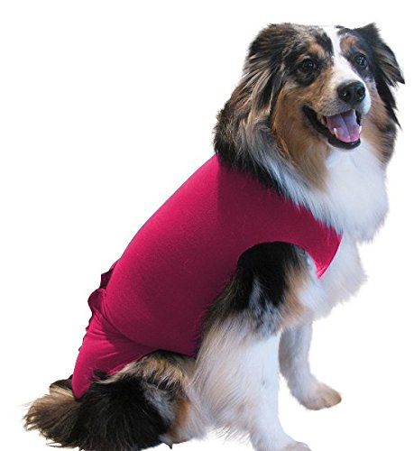 Surgi~Snuggly, The Original Dog Onesie Dog Recovery Shirt is The Original E Collar Alternative with American Textile Safely Protects Your Pet Wound, Skin, Hotspots and Fur While It Heals (PI-LL)
