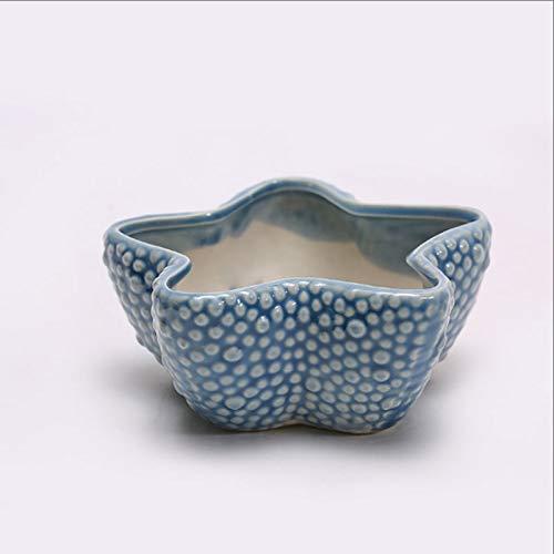 Xilinshop Macetas de jardín para Interiores y Exteriores Transpirable Verde suculento de Conservación Tiesto de cerámica de los Tiesto Oficina de Escritorio pequeño Bonsai Maceteros
