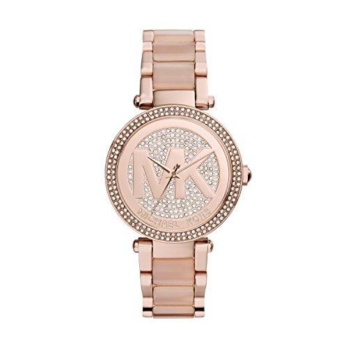 Michael Kors Damen Analog Quarz Uhr mit Edelstahl Armband MK6176