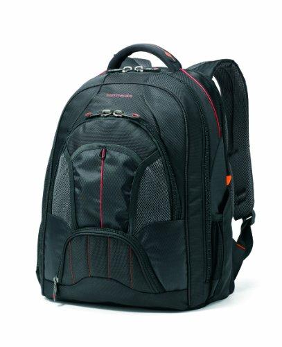 Samsonite Unisex - Adult Tectonic Large Backpack, Black/Orange, One Size
