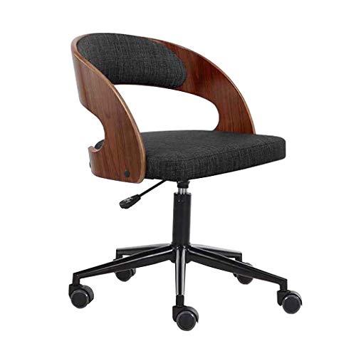 NCHEOI Drehhocker auf Rollen,Drehhocker,Bürostuhl, Vintage Retro Dining-Art-Küchenbürostuhl Moderne Lounge Chair (Color : A)