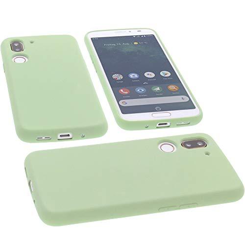 Hülle für Doro 8080 Tasche Silikon TPU Schutz Handytasche grün