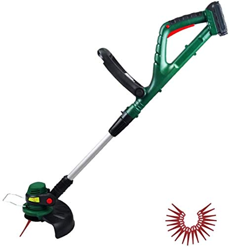Best Buy! JNWEIYU Trimmer/Edger/Mini Mower Cordless Strimmer with 2.0 Ah Battery Electric Home Grass...