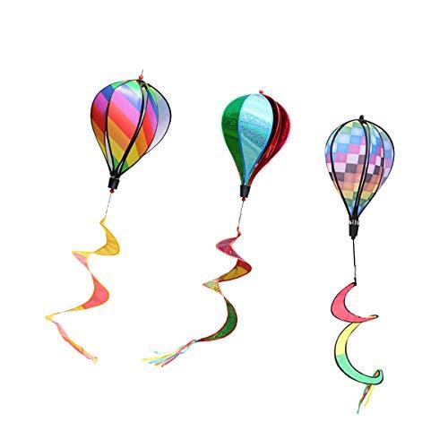 ACMEDE Windspiel Ballon bunt Windspinner Windspirale Gartendeko Kinderdeko