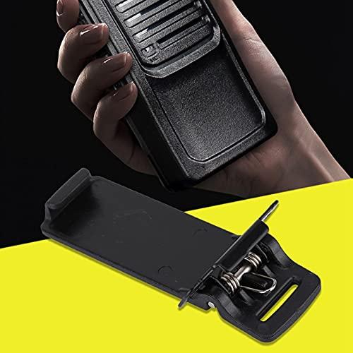 Clip de cinturón -5R, Clip de walkie Talkie Duradero, portátil para -5R / -5RA / -5RB pequeño Negro