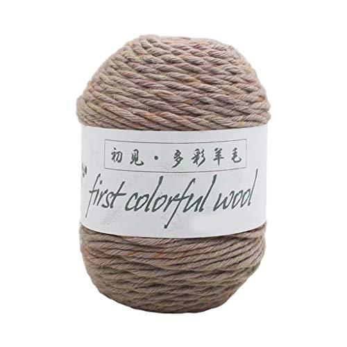 Shefii 1 Rolle 100 g 6 Stränge Kammgarn bunte Wolle Häkeln Stricken Garn mitteldick für DIY Handnähen Pullover Mütze Mantel, Mohair + Wolle + Acryl + Anti-Pilling-Faser., e, E
