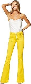 Ramy Brook Women's Cindy High Waistede Button Detail Jean