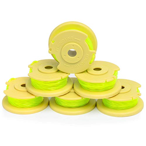Future Way 6-Pack String Trimmer Spools Replacement for Ryobi 18v, 24v, 40v Cordless Trimmers, Pre-Wound Weed Eater String, Easy to Install