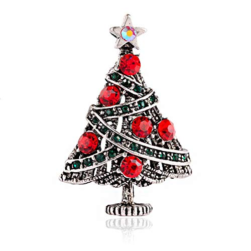 GAOQQ Pack Of 10 Creative Christmas Tree Brooch, European And American...