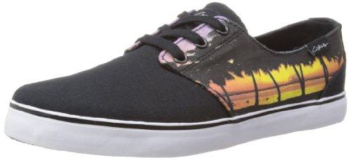 C1RCA Crip, Scarpe Sportive-Skateboard Unisex-Adulto, Nero (Schwarz (Black/Sunset), 43 EU