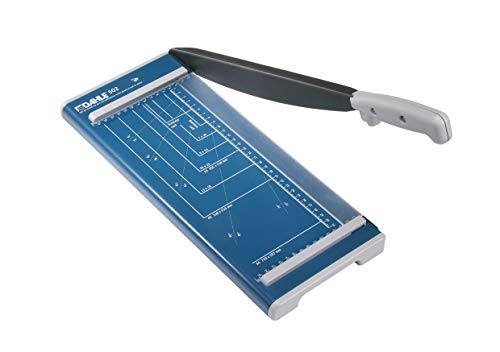 Dahle 502 Guillotine Paper Cutter (Cutting Performance up to 8 Sheets/DIN A4) Blue