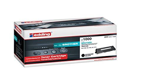 Edding cartucho de 1000sustituye a Brother TN-2120–Negro–2.600páginas