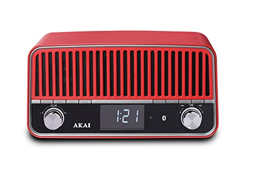 AKAI APR500RD Retro-Radio mit Bluetooth rot