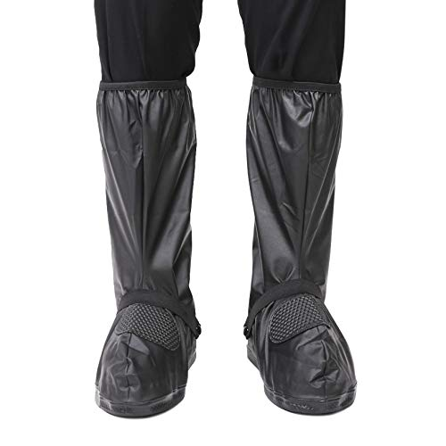 ARUNNERS Motorcycle Rain Boot Covers for Men (Black,4XL)