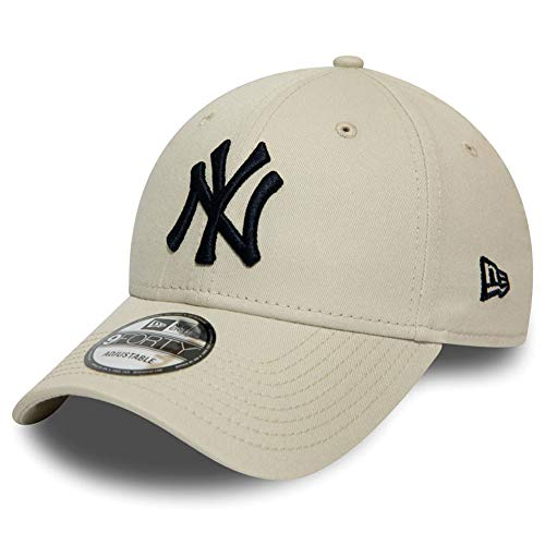 New Era New York Yankees 9forty Adjustable Cap League Essential Stone - One-Size, Beige (med beige)