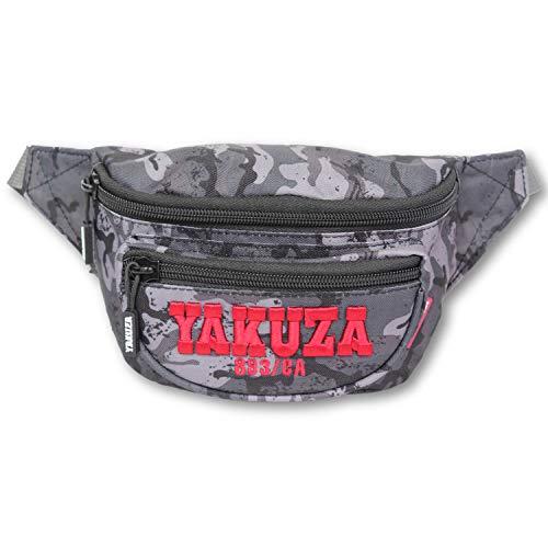 Yakuza Unisex 893College Gürteltasche Bauchtasche Camouflage Grey Einheitsgröße