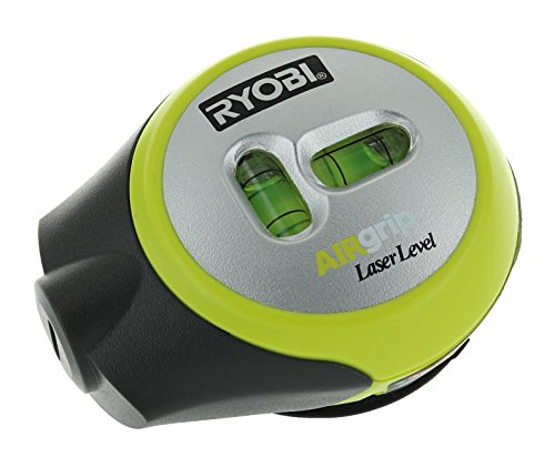 Ryobi ELL1002 Air Grip Compact Laser Level with Tripod Mounting and Corner Rounding Capability (AAA Batteries Included)
