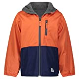 Osh Kosh Boys' Midweight Reversible Jacket, Sunrise Orange/Indigo/Grey, 4T