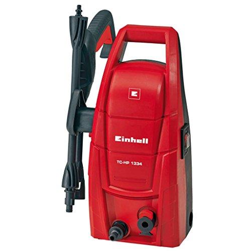Einhell TC-HP 1334 - Hidrolimpiadora, sistema jet-click, 100 bar, 40° C, 1300 W, 220-240 V, color rojo y negro