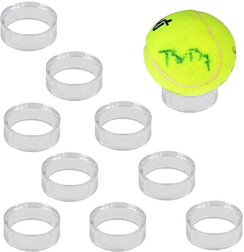 (paquete de 10) transparente expositor Pedestal Soporte para huevos de béisbol y sófbol tenis esferas bolas billar pelotas de golf bola de bolos, (no incluido) de béisbol