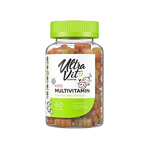 UltraVit Kids Multivitamin Gummies | Essential Daily Formula | Support Healthy Growth | Orange and Berry Flavour | 60 Gummies