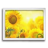 黄色い 太陽 花 ひまわり フレームの絵 絵 壁画 壁飾り 部屋飾り タペストリー お部屋 壁アート 軽くて取り付けやすい ファッション プレゼント (サイズ30*40cm)