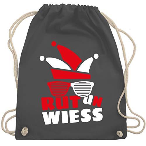 Shirtracer Karneval & Fasching - Rut un wiess - Unisize - Dunkelgrau - Verkleidung Kostüm - WM110 - Turnbeutel und Stoffbeutel aus Baumwolle
