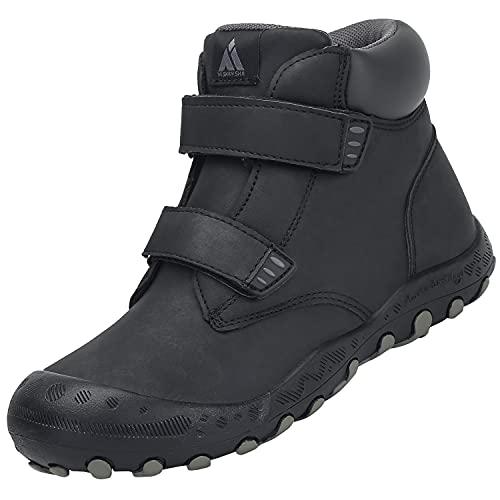 Mishansha Niño Niña Zapatillas Senderismo Ligero y Transpirable Zapatos de Senderismo Antideslizante Botas de Montaña al Aire Libre Unisexo, Niño Negro 29