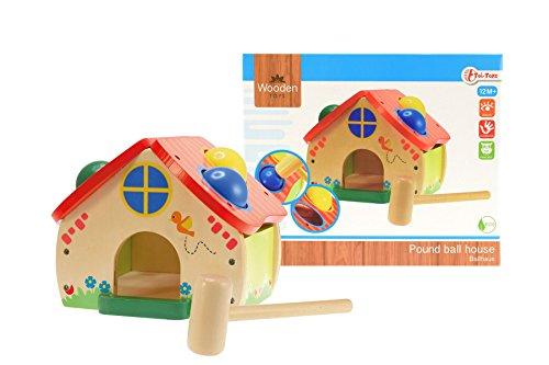 Toi-Toys – huis van houten banken te benadrukken, 82500 A, meerkleurig