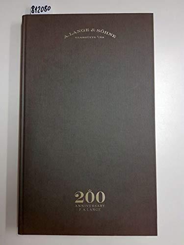 A. Lange & Söhne Glashütte I/SA 200 Anniversary F. A. Lange