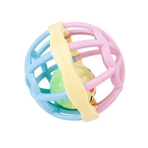Juguete Molar para Mascotas Innovador Bola Anti-mordida Relajante De Bola De Campana Universal con Sonido Hueco