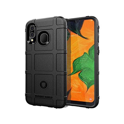 for Samsung Galaxy S10 5G X e Plus M10 M20 M30 A30 A50 M30 A70 A10 A20 A40 Shield Silicone Cover Anti-Fall Case TPU Soft Shell-Black-for Galaxy M30