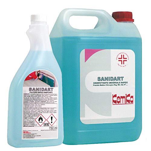 Kemika-Sanidart 750 ml desinfectante universal rápido - Presión médica quirúrgica Reg. Min. N.º 20454.