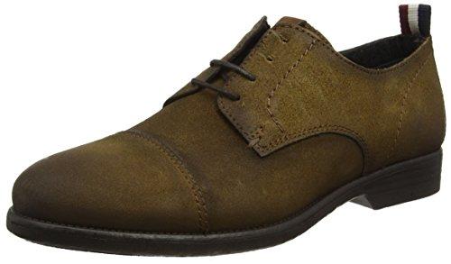 Tommy Hilfiger J2385effrey 1b, Zapatos de Cordones Derby Hombre, Marrón (Camel), 40 EU